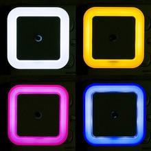 Светильник с датчиком управления, Ночной светильник, Мини, ЕС, США, вилка, новинка, квадратная лампа для спальни, романтичный красочный светильник s