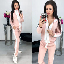 2019 Spring New Women Fashion Sports Leisure Set 2 Sets Europe America Sport Suit Women(China)