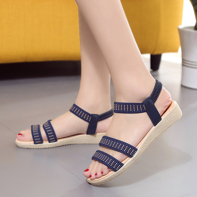 Women Shoes Sandals Comfort Sandals Summer Flip Flops 2017 Fashion High Quality Flat Sandals Gladiator Sandalias Mujer 2628W
