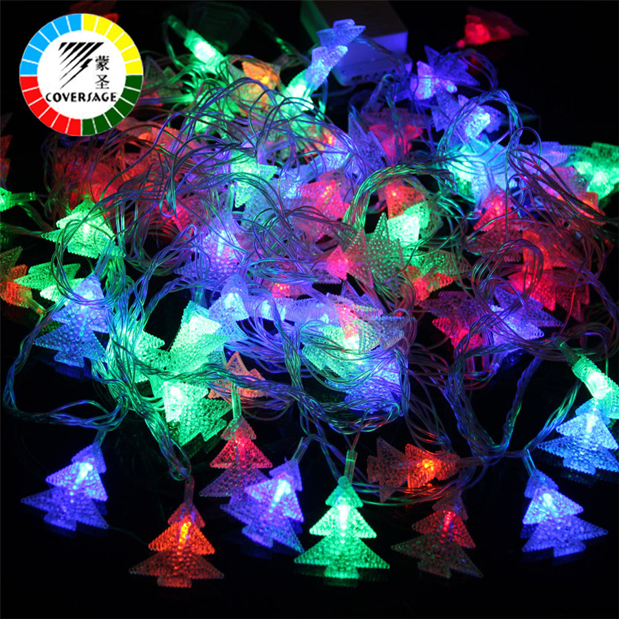 Coversage 10M 100 Led Julgran Garland String Xmas Utomhusdekoration Led Gardin Navidad Fairy Lights Guirlande Lumineuse