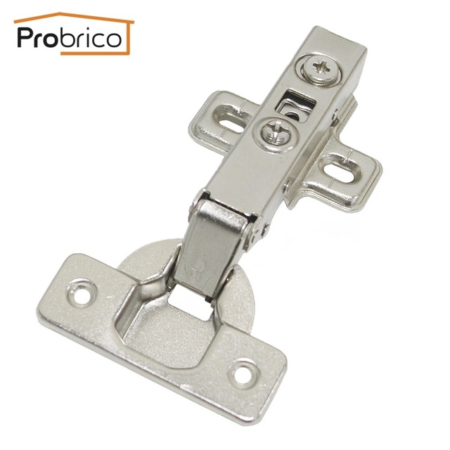 probrico 1 pcs soft close kitchen cabinet hinge full overlay concealed hydraulic furniture cupboard door hinge - Kitchen Cabinet Door Hinges