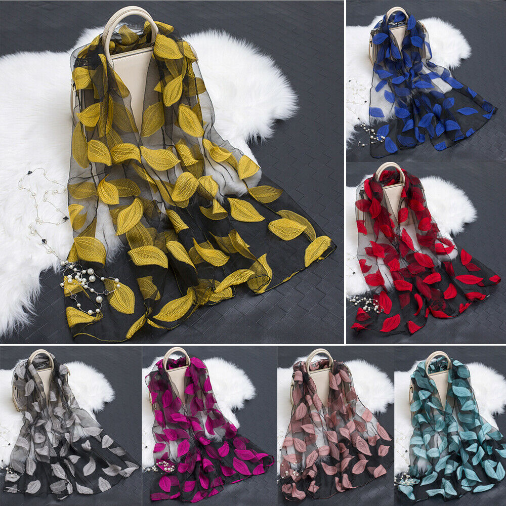 2019 New Satin Solid Silk   Scarf   Elegant Lace High Quality Silk   Scarf   Shawl   Wrap