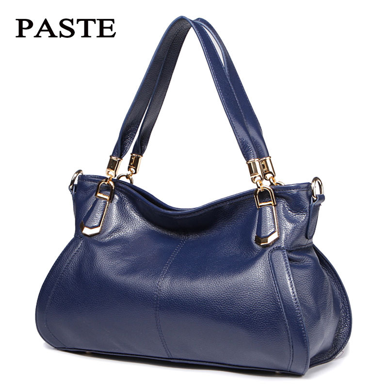 Luxury PASTE Brand natural skin women's handbag fashion genuine leather shoulder bag for sweet ladies casual tote messenger bags didriksons кофта leia