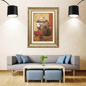 Artcozy Golden Frame Abstract pintura em tela vasos Waterproof Canvas Painting