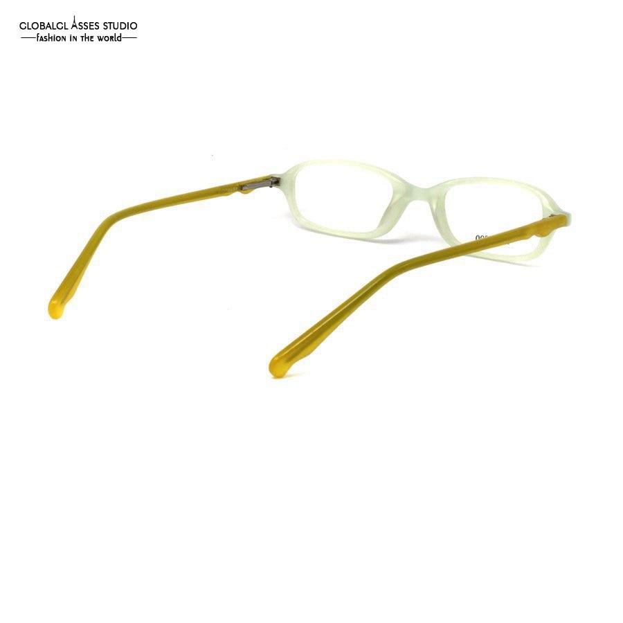 8b0e3fbec60 Elegent Oval Rim Acetate Glasses Frame Women Jade Green Frame Yellow Temple  Prescription Optical Eyeglasses LX S5000-in Eyewear Frames from Apparel ...