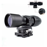 Optics 4x Magnifier Scope Tactical Hunting Shooting Airsoft Air Guns Riflescope Use 4x Magnification For 20mm Weaver Rail