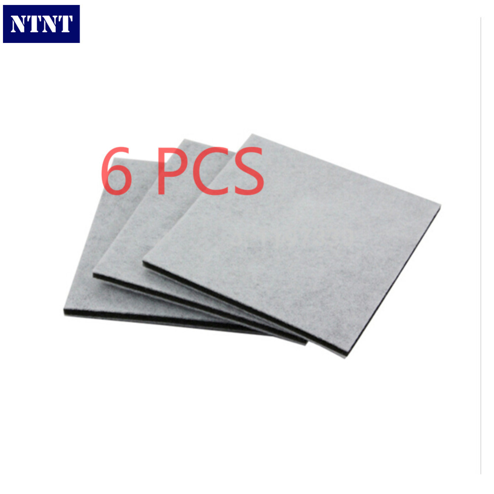 NTNT 6 Pcs/Lot Vacuum Cleaner Efficient HEPA Filter for Philips Electrolux Motor cotton filter wind air inlet outlet Filter original oem vacuum cleaner air inlet filters protect motor filter efficient filter dust 116x114mm vacuum cleaner parts