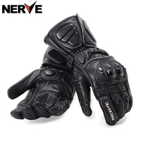 NERVE Motorcycle Gloves Spring Summer Waterproof Windproof Protective Gloves Leather Gloves Breathable Non Slip Sheepskin