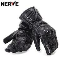 NERVE Motorrad Handschuhe frühling sommer Wasserdicht Winddicht Schutzhandschuhe lederhandschuhe, atmungsaktiv rutschfeste, schaffell