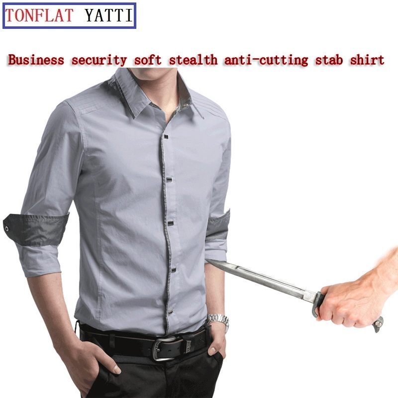 New Self Defense Business Security Stealth Body Stab-Resistant Anti-Cut Shirt Military Tactics FBI Protective Clothing 6 Color