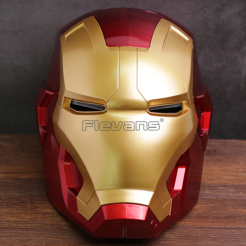 Iron Man Helmet Cosplay Mask for Adult Touch Sensing 1:1 Mask with LED Light Collectible Figure Model Toy 2 Colors future warrior mask breathable full face mask terminator helmet halloween cosplay horror human skeleton helmet halloween props