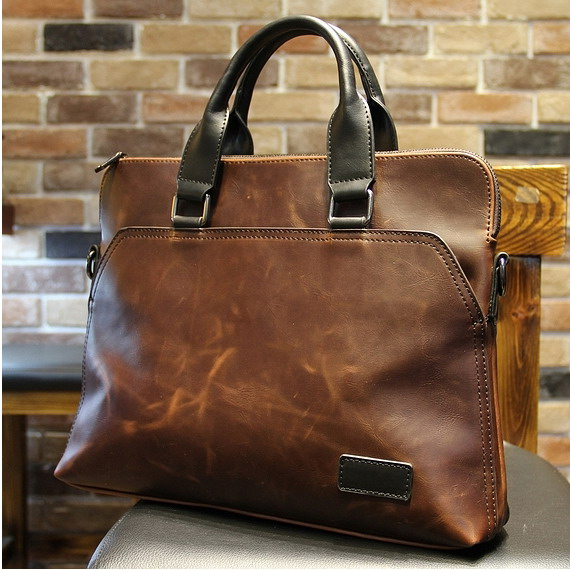 Hot sale!! business bag crazy horse pu leather laptop briefcase man bags men's handbags with briefcase brown men messenger bags  kundui 2016 new hot sale pu multi pocket men business briefcase handbag man shoulder messenger bag laptop bags free shipping