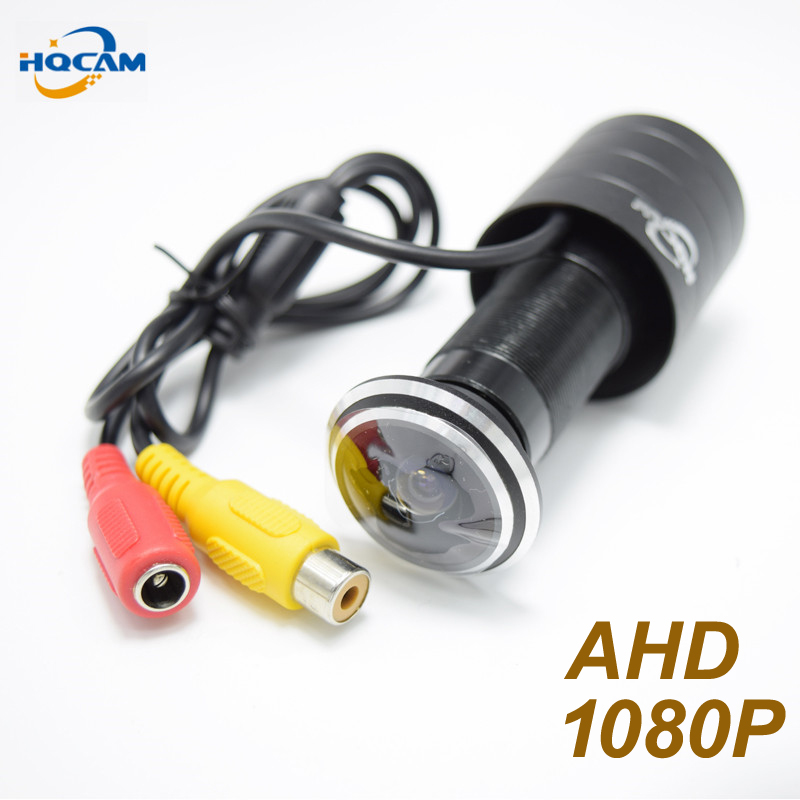 HQCAM 1080P UTC Control Mini AHD camera 1.78mm Fisheye Lens 2000TVL 2.0megapixel Door eye Camera CCTV security camera indoor cam настольная лампа globo bird 56672 1t