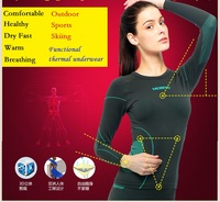 Free Shipping Singles Day Sales Top Discount Women Style Brand Quality Winter Warm Functional Thermal Underwear