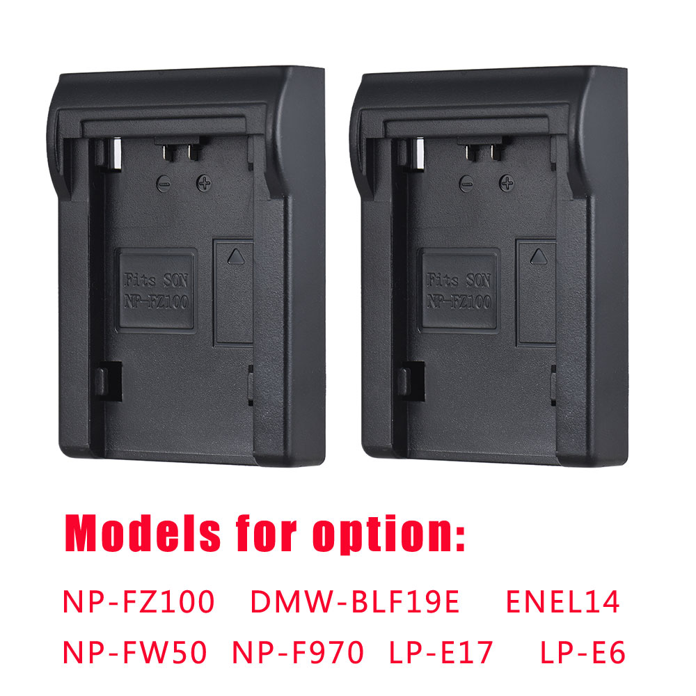 Andoer 2pcs NP-FZ100 Battery Plate For Neweer Andoer Dual/Four Channel Battery Charger For Sony A7III A9 A7RIII A7SIII