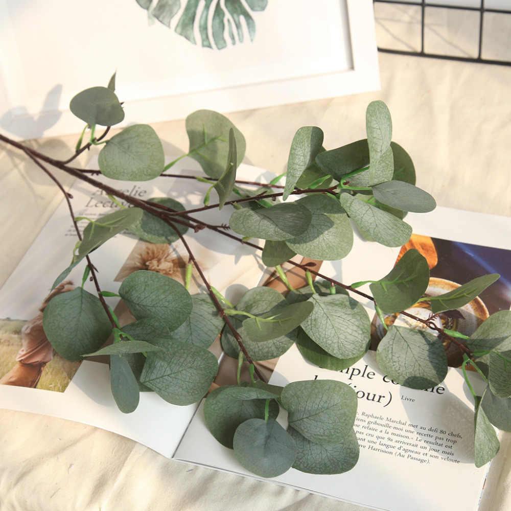 Искусственное пластиковое дерево эвкалипта для свадебного украшения, Цветочная листва, маленькие листья, растение для гостиной, дома, офиса 28