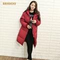 Зимняя куртка женщины 2016 новый утолщение пункт сверхдальние вниз пальто хлопка-ватник парка зимнее пальто женская одежда