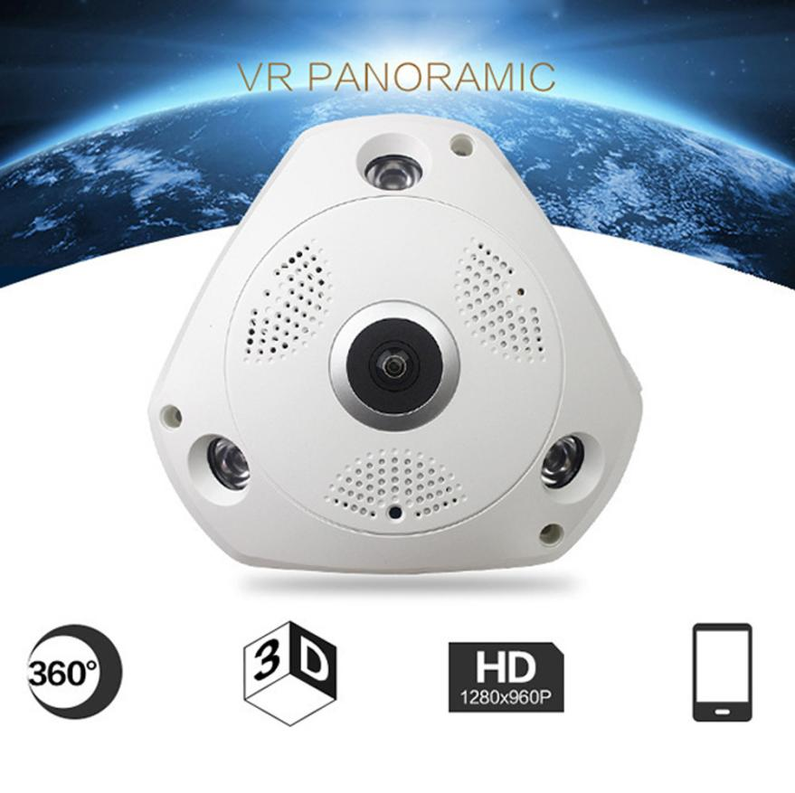 Neue 360 Grad Panorama Wireless Home Security Surveillance IP Audio Video 18Mar29 Drop Ship F