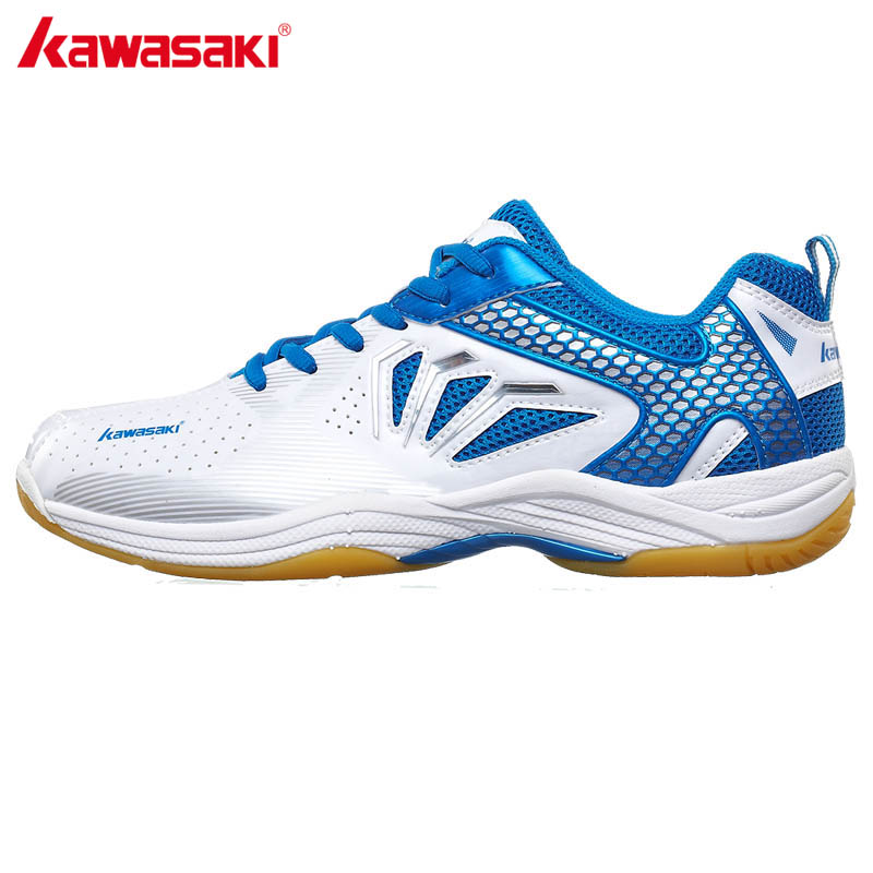 KAWASAKI Men Women Indoor Court Sports Shoes for Badminton Breathable Anti-Slippery Rubber Outsole Sneakers K-065 066 professional brand kawasaki badminton shoes 2017 sport sneakers for men women anti slippery pvc floor sports shoe k 065 k 066