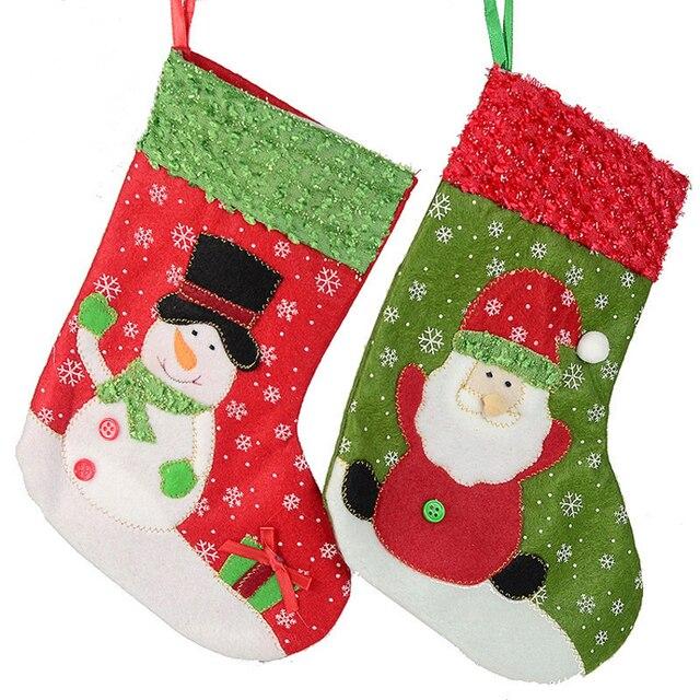 6pcs wholesale christmas stockings 26cm christmas tree decoration hanging socks santa claus snowman christmas gifts socks - Wholesale Christmas Gifts