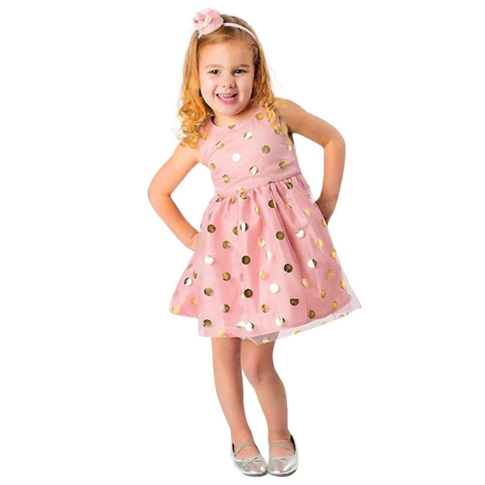 costume for kids Baby Girls Infant Toddle Dot Tutu Zip Sleeveless Princess Dress Clothes girl party dresses vestidos infantil