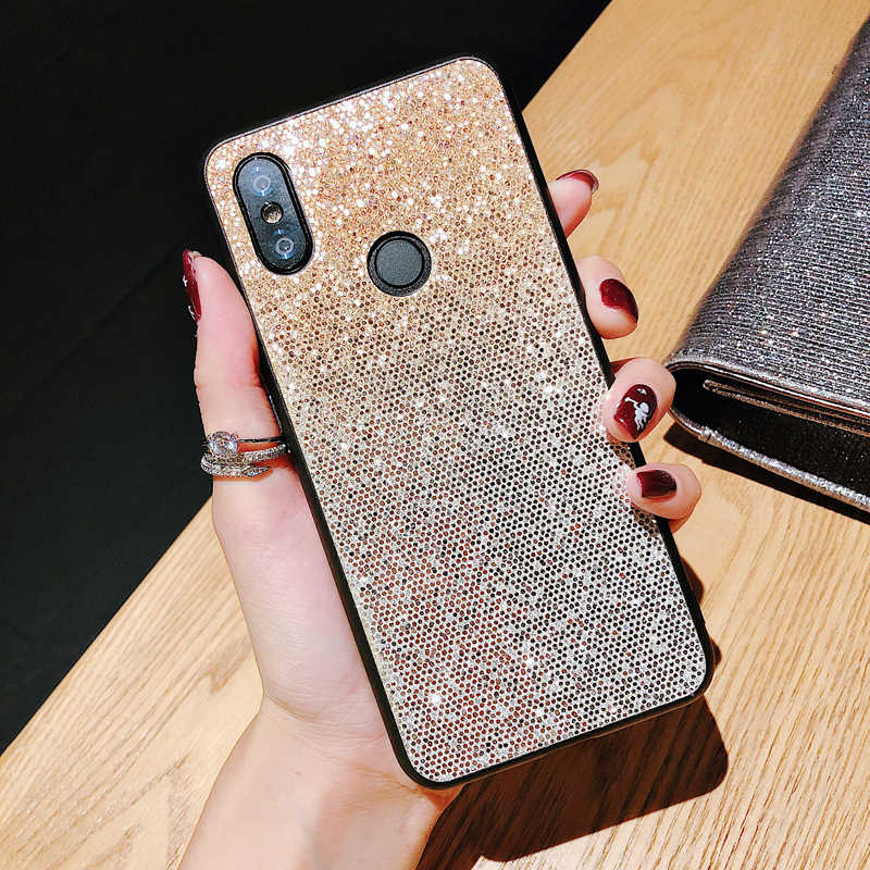 Bling Glitter Cover For Huawei Honor 7C 7A Pro 7C 8X 8C 7X 10 8 9 Lite P20 Mate 20 Pro Lite Y9 Y6 Y5 2018 Prime V10 Y9 2019 Case