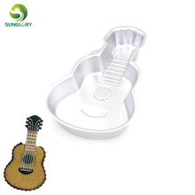 New Arrivals  Guitar Cake Pan Musical Instruments Mold Large Cupcake 3D Bakeware for Tools