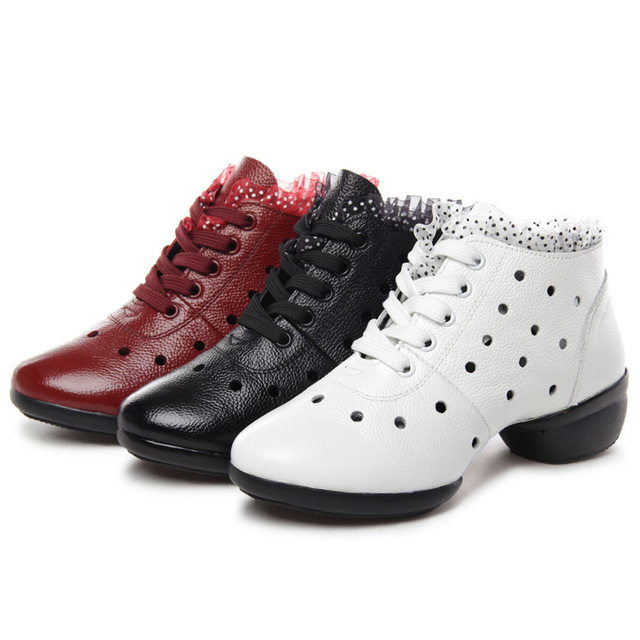 273211d1f431 Square Shoes Female Summer Art New Flat Ballroom Dancing With Leather  Surface Modern Breathable Soft Bottom Shoes