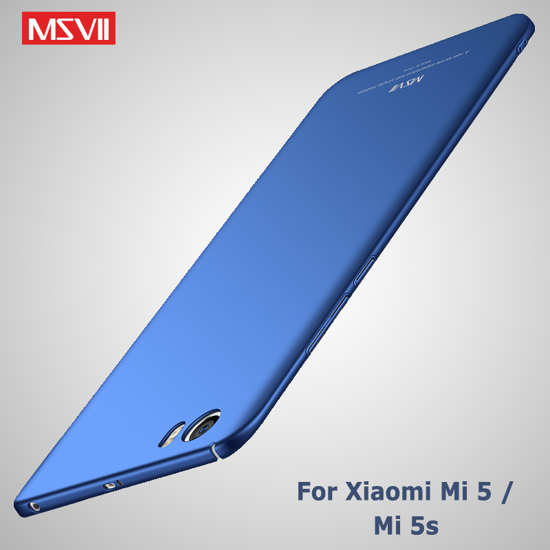 Xiaomi Mi 5 Case Msvii Cover For Xiaomi Mi5 Mi 5S Mi5x Pro Case Xiomi Mi5X MiA1 Silm PC Cover For Xiaomi Mi A1 5 X Mi5 s Cases