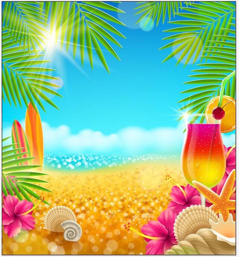 Vinyl Photography backgrounds Tropical Beach backdrops for photo Studio Backdrops Background ZH-31 shengyongbao 300cm 200cm vinyl custom photography backdrops brick wall theme photo studio props photography background brw 12