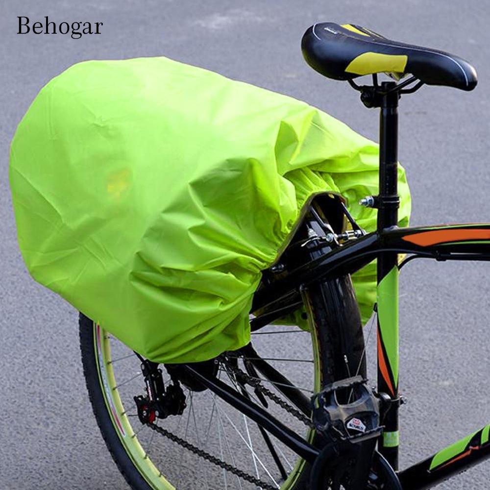 behogar foldable waterproof rainproof rain cover bicycle bike rear seat rack pannier carrier bag