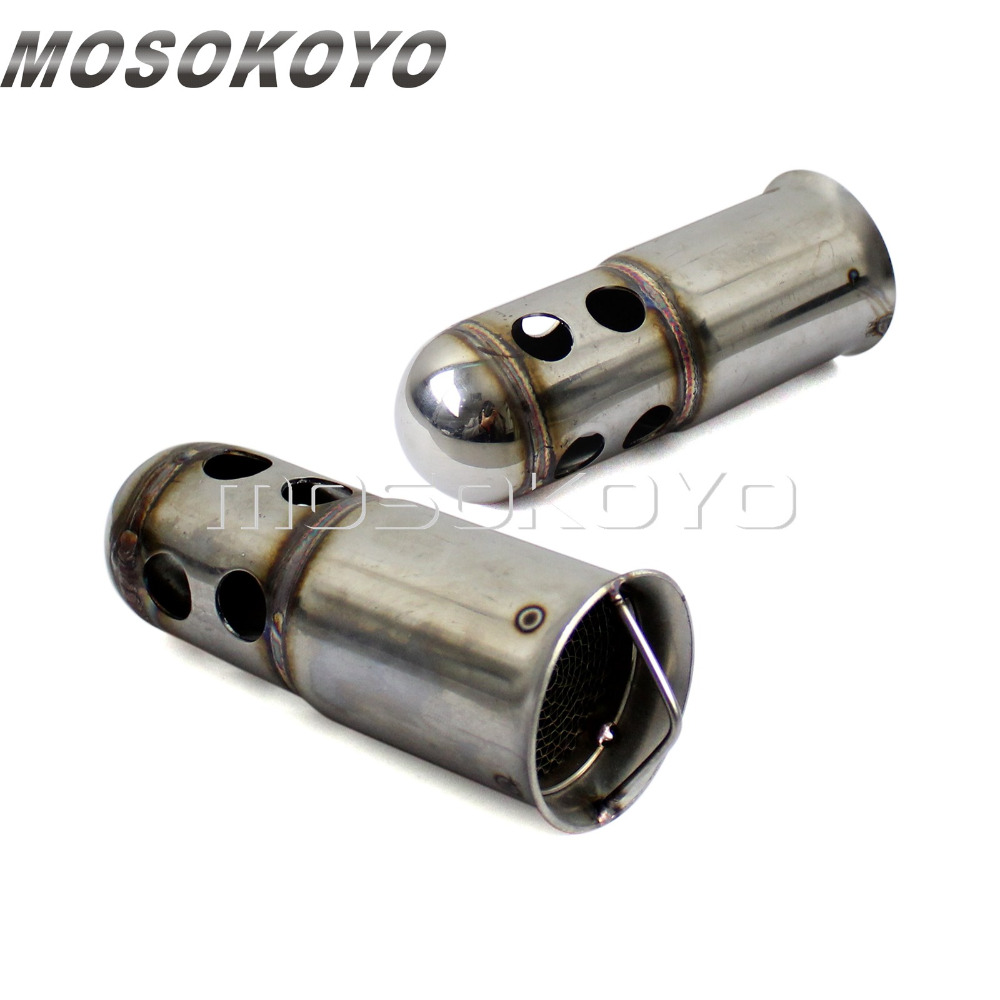 Motorcycle Exhaust Baffle 51mm Muffler Can Silencer DB Killer Noise Eliminator Insert for Cafe Racer Cruiser Chopper Мотоцикл