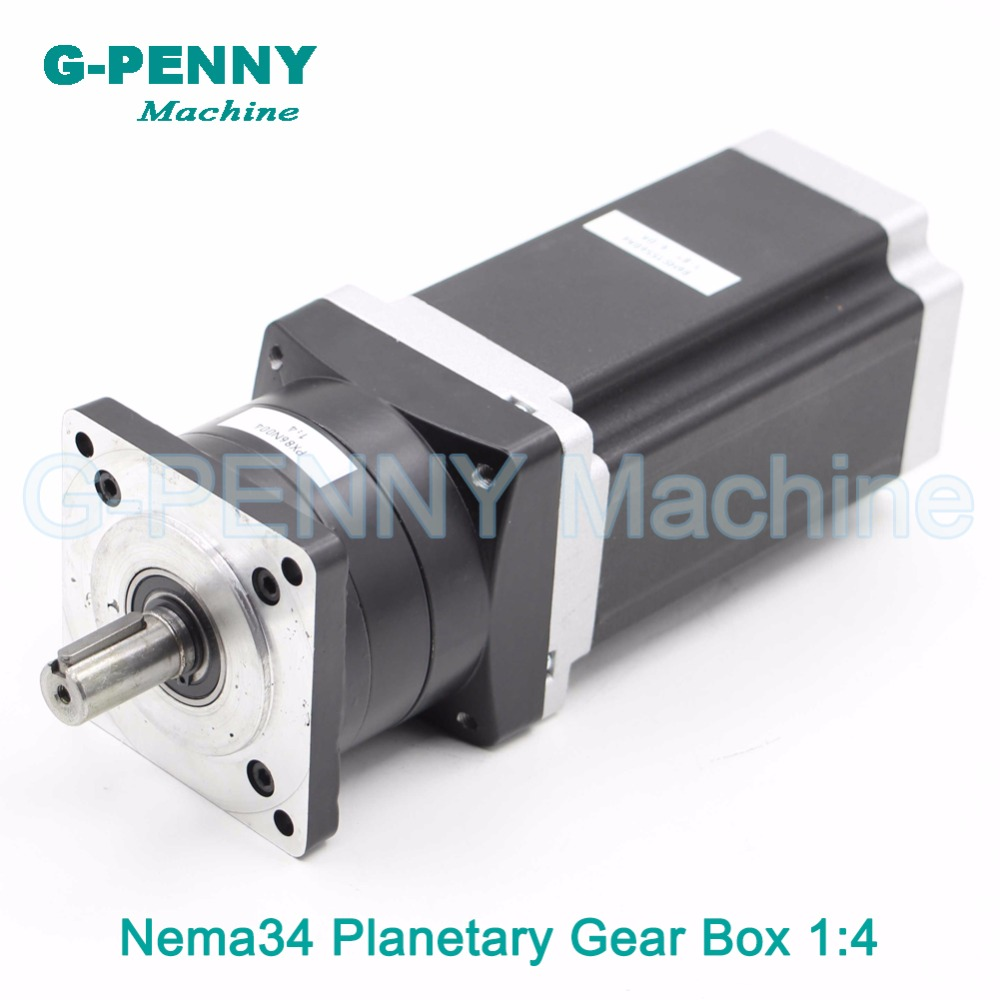Nema34 stepper Motor Planetary Reduction Ratio 4:1 with nema34 motor 86x156 6A planet gearbox 86 motor speed reducer High Torque high quality 5n m 42 42 119 7mm brushless dc motor with planetary gearbox reduction ratio 104 8