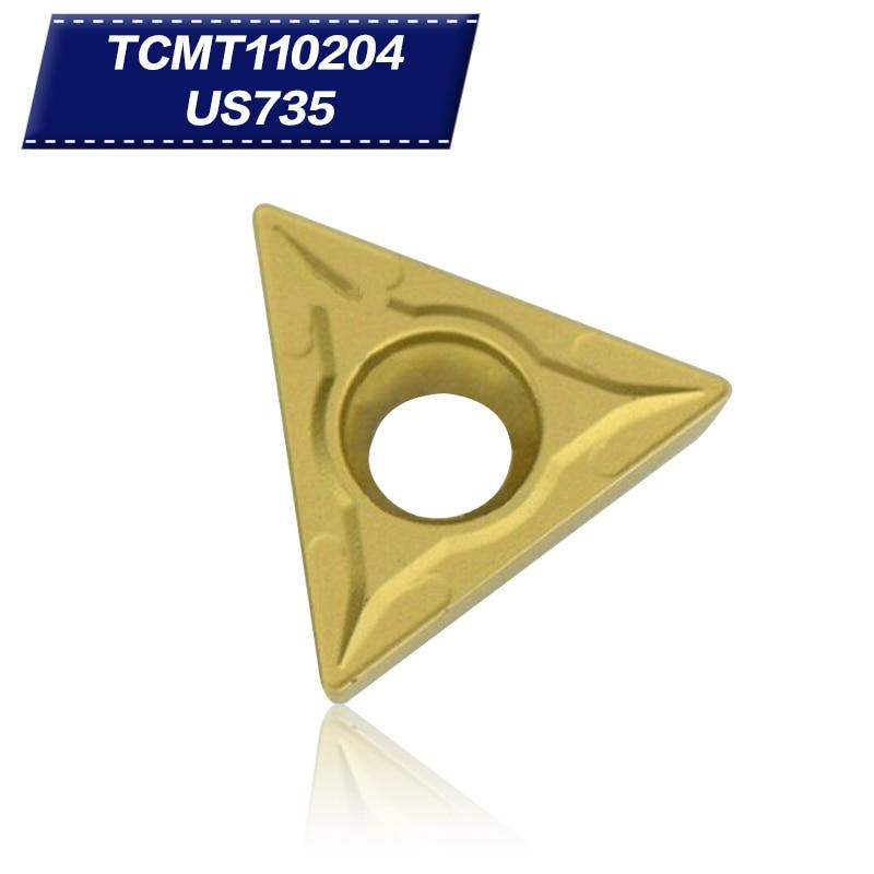 10Pcs TCMT110204 US735 Internal Turning Tools Carbide Inserts Cutting Tool CNC Tools Lathe Tools Lathe Cutter