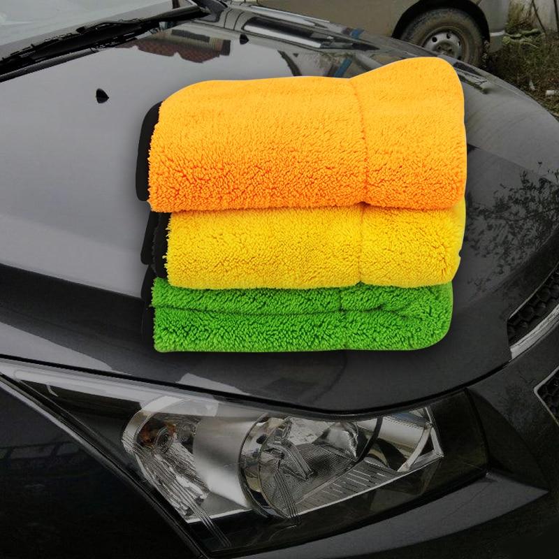 High Quality Soft Microfiber 45x38cm Towel Car Cleaning Wash Clean Cloth Car Care Microfibre Wax Polishing Detailing Towels