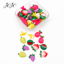 JOJO BOWS 10pcs DIY Craft Supplies Fruit Planar Flatback Resin Patches Accessories Handmade Sticker Hair Bows Decoration