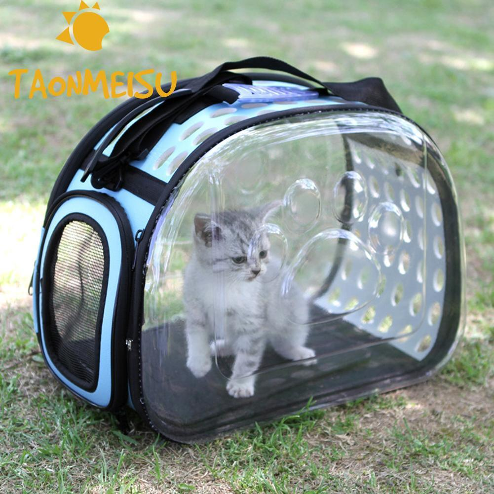 Foldable Transparent Pet Puppy Dog Cat Carrier Shoulder Bag Outside Hiking For Small Dog Pets Kittens & Puppies Handbag Kennel