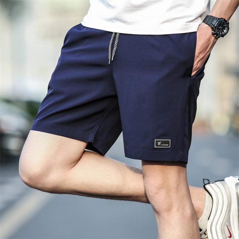 Casual Shorts Mens Summer Beach-Wear Drawsting Quick-Dry Solid Lightweight Soft Nylon