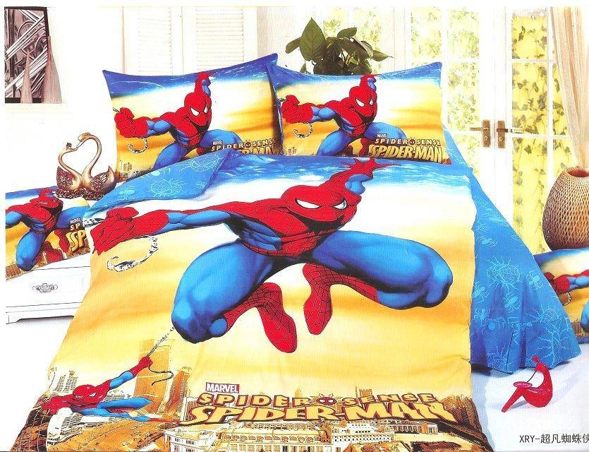 Duvet Cover Set Cartoon Children Spiderman Twin Single Bedding Cool New Design Bedlinens For Boys 2 4pcs In Sets From Home Garden On