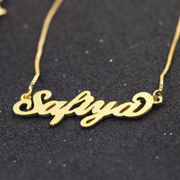 925 Solid Silver Customed Personalized Name Necklace Cut Out Hand made Personalized Necklace For Lover and BBF