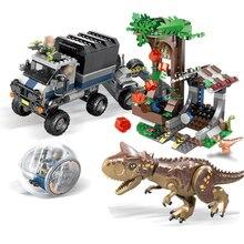 SY1080 Jurassic World Park 2 Carnotaurus Gyrosphere Escape dinosaur Dragon Figures Building Blocks Toys kids Fit Legoings 75929