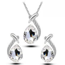 Elegant Cubic Zircon Jewelry Sets for Women Wedding Party Romantic Love Heart Necklace Earring African Beads Bijoux