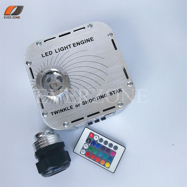 лучшая цена 27W LED Light Generator Optic Fiber with Twinkle Wheel and Shooting Effect IR Remote Control