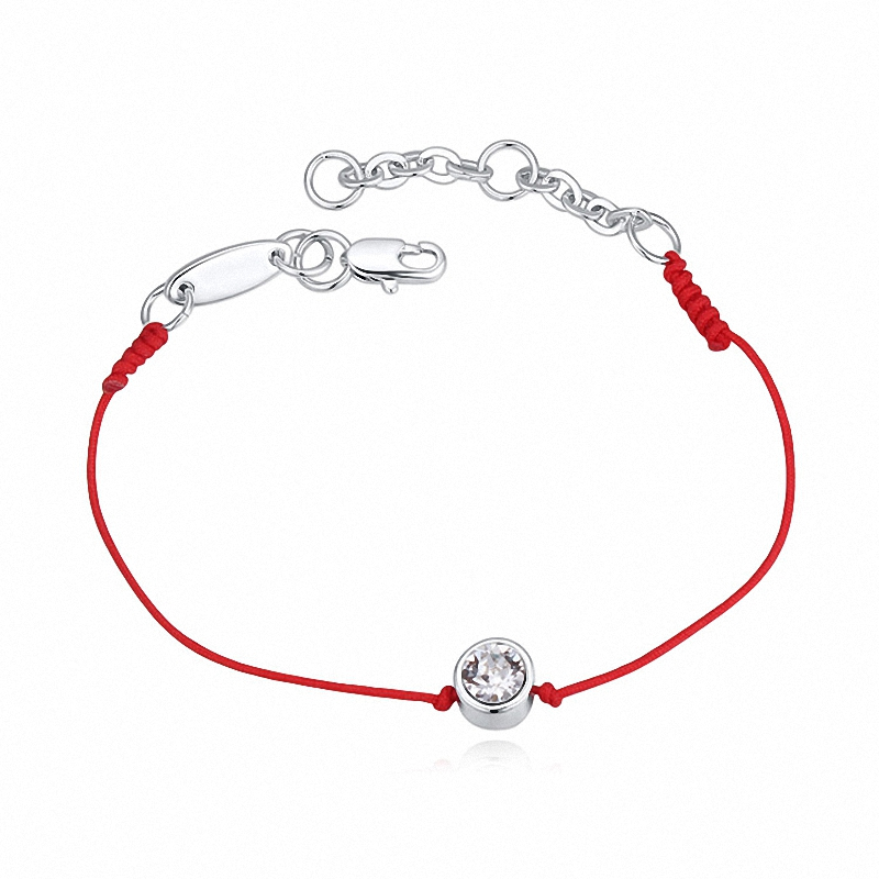 Real Austrian Crystal jewelry thin red thread string rope Charm Bangles for women Fashion  New sale Top Hot summer style