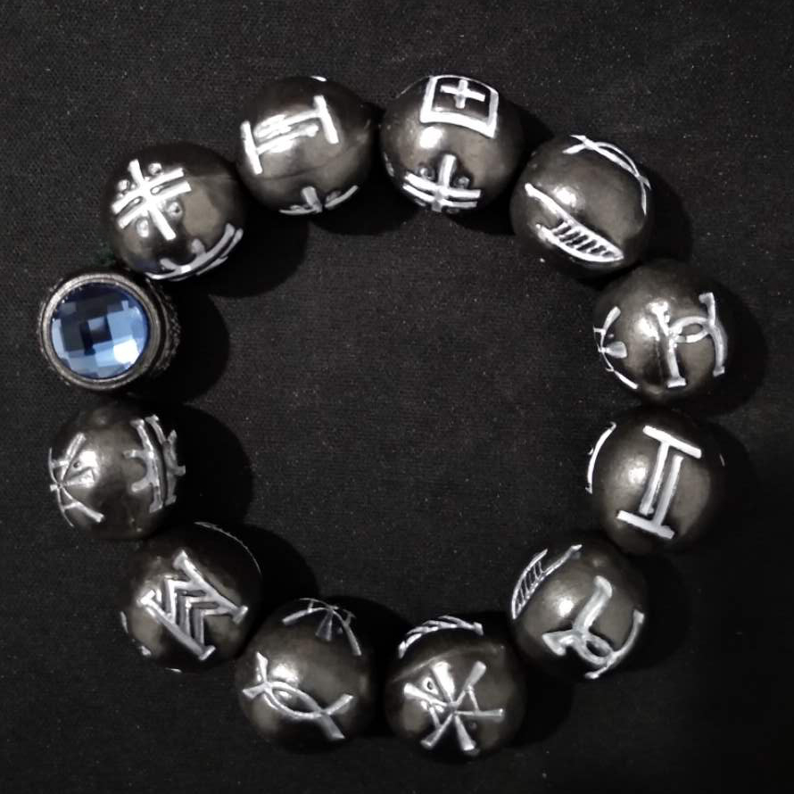 Black Panther Kimoyo Bracelet Cospaly Marvel Movie Black Panther Black Beads Collection Props Party Accessories Unisex Size