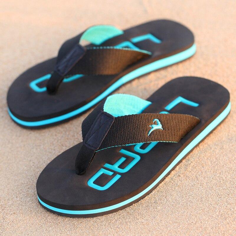 Strand Schuhe Kenntnisreich 2019two-color Mode Herren Wohnung Absätzen Flip-flops Sandalen Europa Und Amerika In Sommer