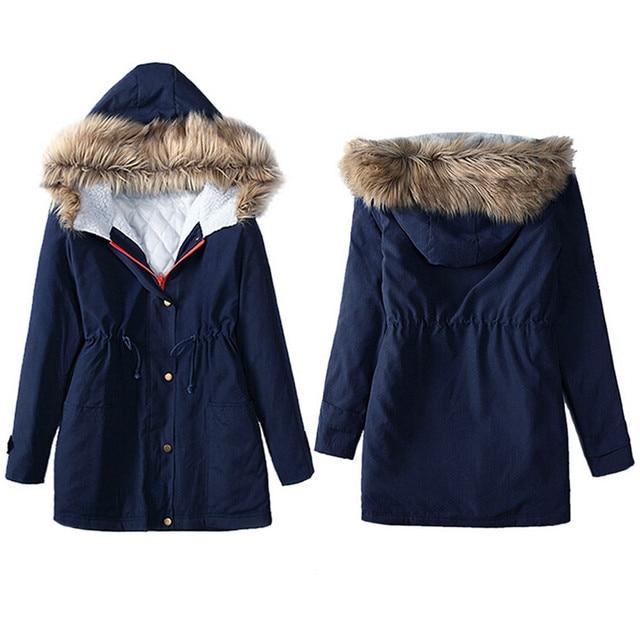 winter jacket women 2017 Korean style Womens Jacket Hooded Winter Parka Coats Top Cotton Ladies Coat Outwear plus size coat ma