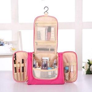 Image 2 - Foldable Travel Storage Oxford Bath Waterproof Wash Bag Home   Organizer Female Mens Multi Function Hanging Hook Package