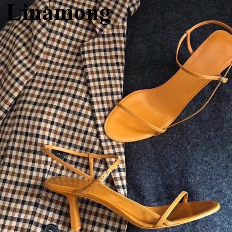 2019 Hottest Sample Fashion High Heel And Open Toe Solid Orignal Buckle Strap Summer Sexy Narrow Band Women Sandals2019 Hottest Sample Fashion High Heel And Open Toe Solid Orignal Buckle Strap Summer Sexy Narrow Band Women Sandals