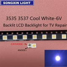 200 pces para lg uni led backlight lcd tv grânulo 3 v 6 v 3535 led smd lâmpada grânulo 3535 branco frio seul wooree